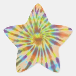 Batik style star sticker
