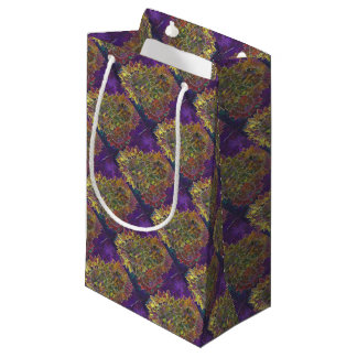 batik sunflowers small gift bag