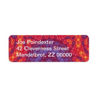 Batik Sunset Watercolor Mandala Return Address Label