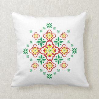 Batik Tjeplok Kantel Throw Pillow