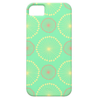 Batik tribal girly floral chic green dots pattern iPhone 5 case