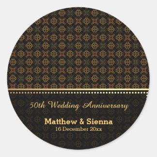 Batik Wedding Anniversary Stickers