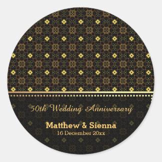 Batik Wedding Anniversary Sticker