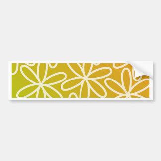Batik - Yellow Bumper Sticker