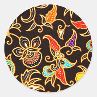 batik yono 01 classic round sticker