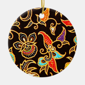 batik yono 03 ceramic ornament