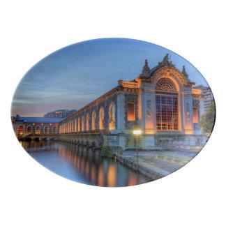 Batiment des Forces-Motrices, Geneva, Switzerland Porcelain Serving Platter