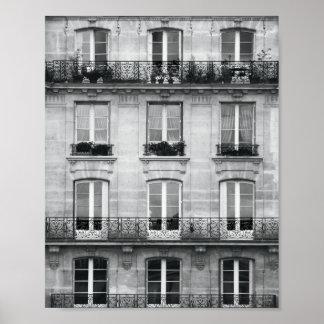 Bâtiment vintage noir et blanc du voyage | à Paris