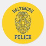 Batimore Police Maryland Classic Round Sticker