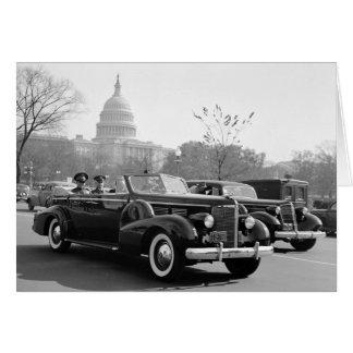 Batista Cruising the Capitol: 1938 Greeting Card