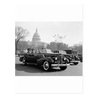 Batista Cruising the Capitol: 1938 Postcard