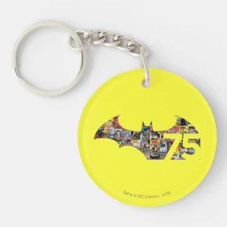 Batman 75 Logo - Comic Covers Double-Sided Round Acrylic Keychain