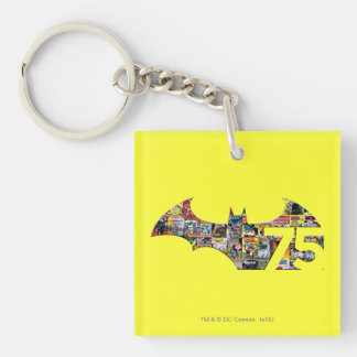 Batman 75 Logo - Comic Covers Keychain