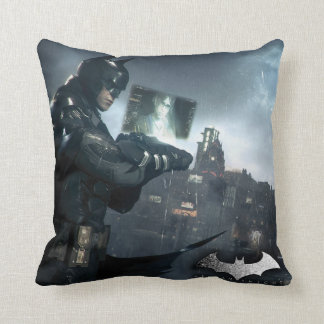 Batman And Oracle Throw Pillow