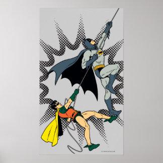 Batman And Robin Climb Poster