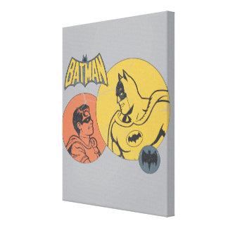 Batman And Robin Graphic - Distressed Canvas Print