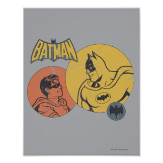 Batman And Robin Graphic - Distressed Poster