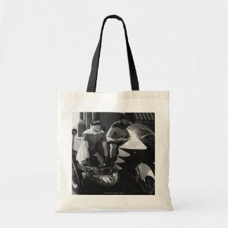 Batman and Robin in Batcycle Budget Tote Bag