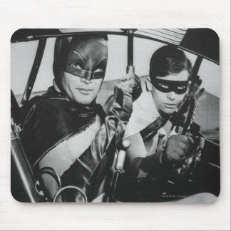 Batman and Robin In Batmobile Mouse Pad
