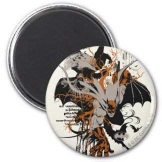 Batman and Tree 2 Inch Round Magnet