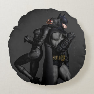 Batman Arkham City | Batman and Catwoman Round Pillow