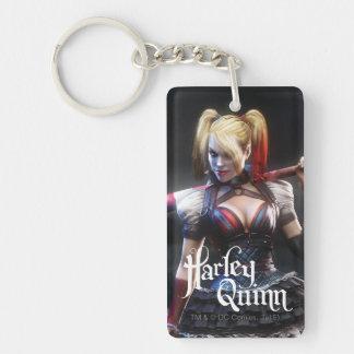 Batman Arkham Knight | Harley Quinn with Bat Double-Sided Rectangular Acrylic Keychain