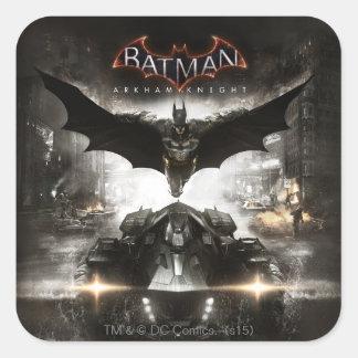 Batman Arkham Knight Key Art Square Sticker