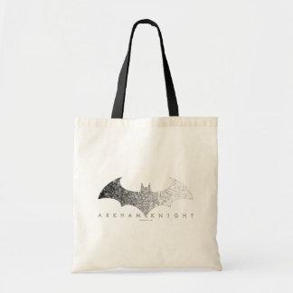 Batman Arkham Knight Pixel Logo Budget Tote Bag