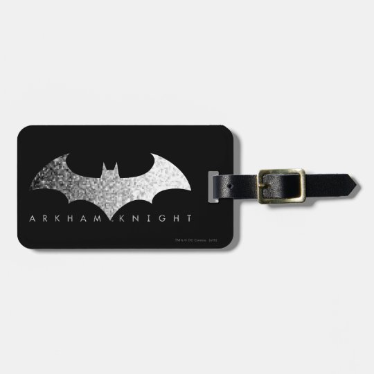 Batman Arkham Knight Pixel Logo Luggage Tag