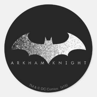 Batman Arkham Knight Pixel Logo Round Sticker