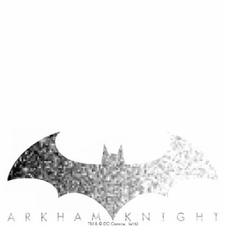 Batman Arkham Knight Pixel Logo Standing Photo Sculpture