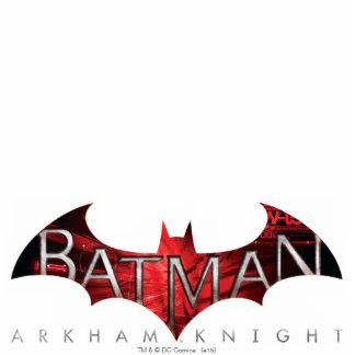 Batman Arkham Knight Red Logo Standing Photo Sculpture