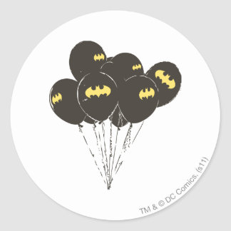 Batman Balloons Round Sticker