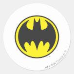 Batman Bat Logo Circle Round Sticker