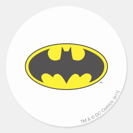 Batman Bat Logo Oval Classic Round Sticker