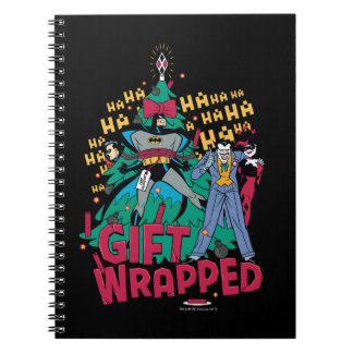 Batman | Batman & Robin Gift Wrapped To XMas Tree Spiral Notebook