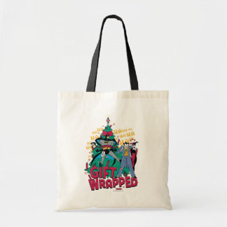 Batman | Batman & Robin Gift Wrapped To XMas Tree Tote Bag