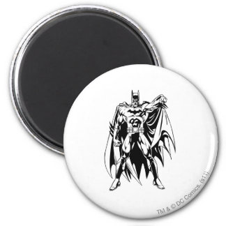 Batman Black and White Front 2 Inch Round Magnet