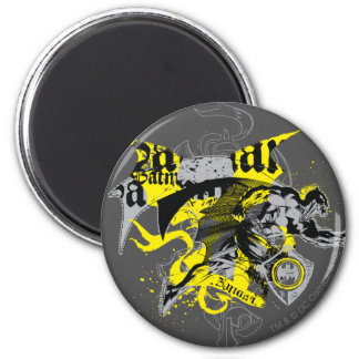 Batman Black and Yellow Collage 2 Inch Round Magnet
