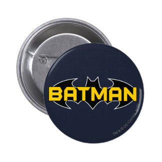 Batman Black and Yellow Logo 2 Inch Round Button