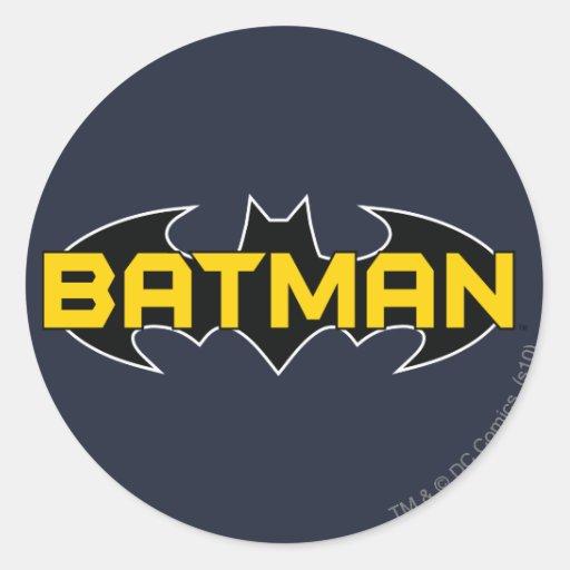 Batman Black and Yellow Logo Sticker