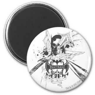 Batman Blue Cityscape 2 Inch Round Magnet