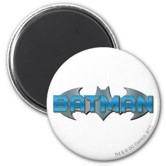 Batman | Blue Name Logo 2 Inch Round Magnet
