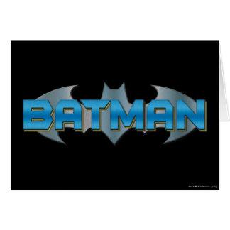 Batman | Blue Name Logo Card