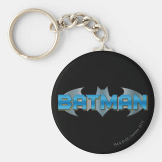 Batman | Blue Name Logo Keychain