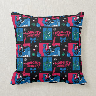 Batman | Catwoman Naughty Or Nice Pattern Throw Pillow