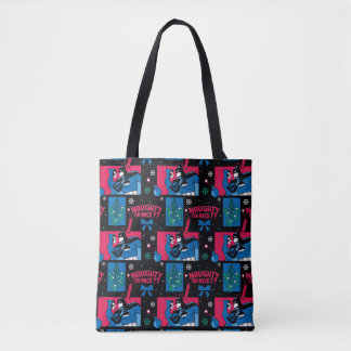 Batman | Catwoman Naughty Or Nice Pattern Tote Bag