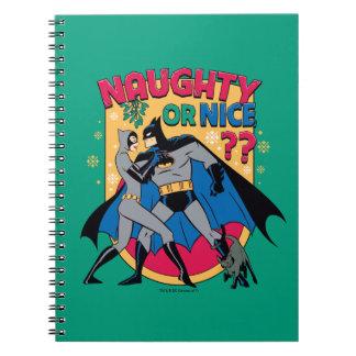 Batman   Catwoman Under Mistletoe Naughty Or Nice Notebooks