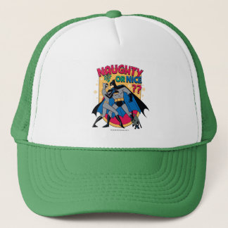 Batman | Catwoman Under Mistletoe Naughty Or Nice Trucker Hat