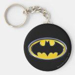 Batman Classic Logo Basic Round Button Keychain